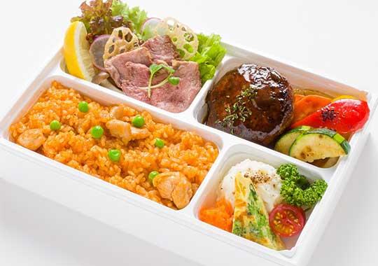 巨匠の洋食【食物繊維1日1/2入り】米沢牛入りハンバーグとステーキ弁当