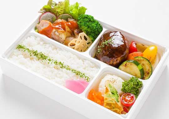 巨匠の洋食【食物繊維1日1/2入り】米沢牛入りハンバーグとチキンソテー弁当
